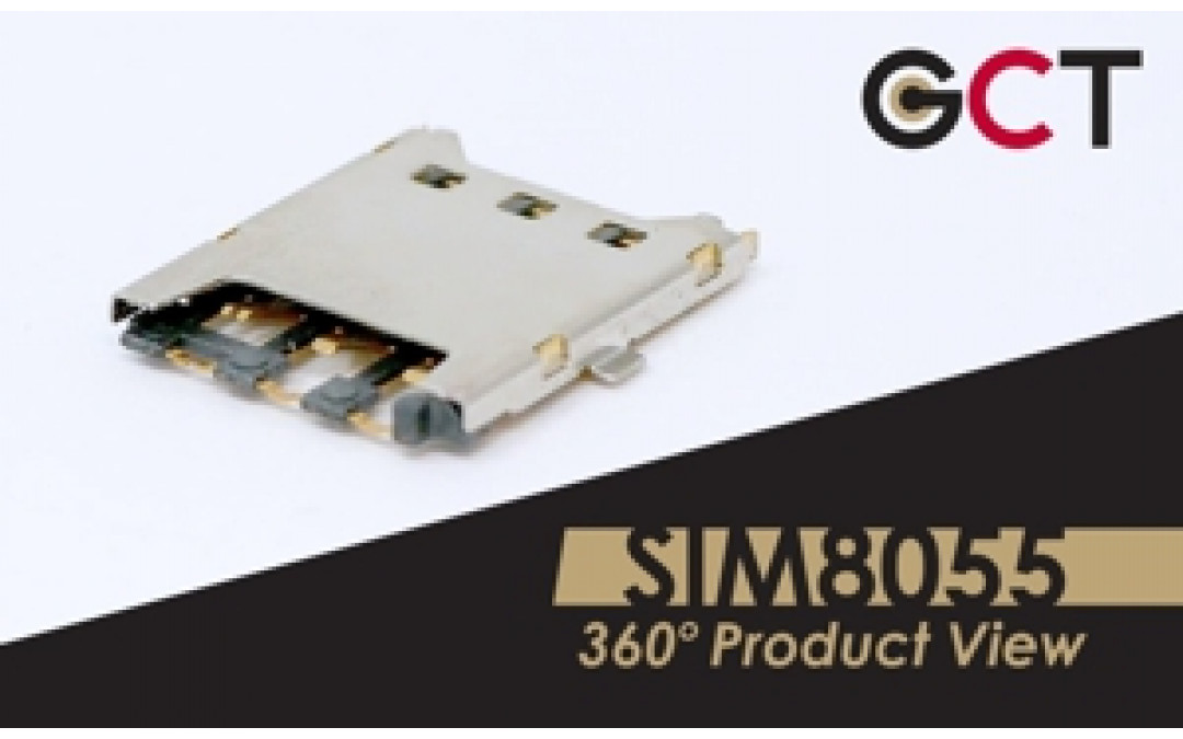GCT SIM8055 Nano SIM Connector with Card Detect Switch