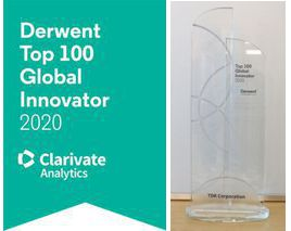 TDK named a Derwent Top 100 Global Innovator 2020